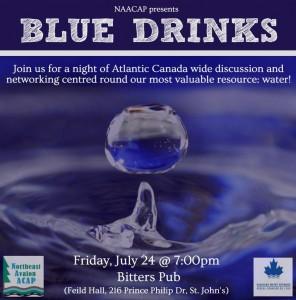 Blue Drinks Poster